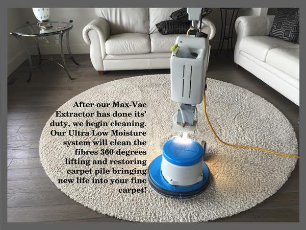 Oxy-Dry® area rug cleaning uses ultra low moisture system