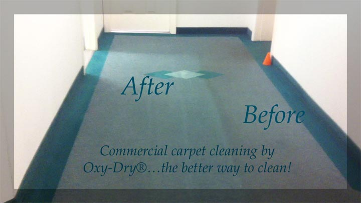 Oxy-Dry® commercial carpet cleaning dries fast, lasts longer