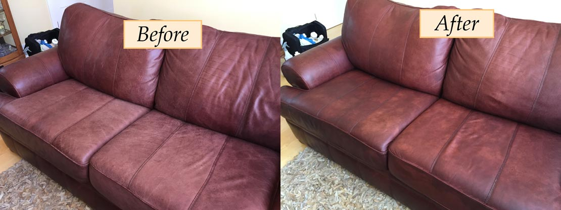 upholstery cleaning leather sofa